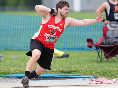 Boys Track and Field: 'It's pretty cool' Yorkville's Kyle Clabough captures state shot put championship