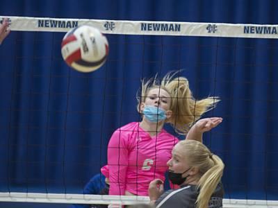 Photos: Princeton vs Newman volleyball