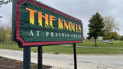 City of DeKalb replaces Knolls subdivision sign after weekend vandalism