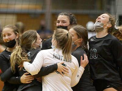 Photos: Hall vs St. Bede volleyball
