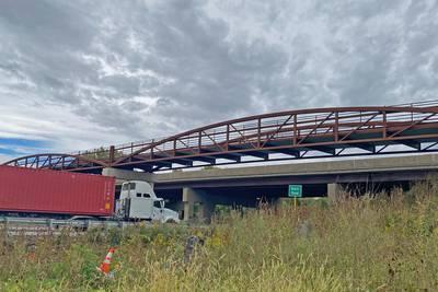 Will County Forest Preserve installs pedestrian bridge over I-55