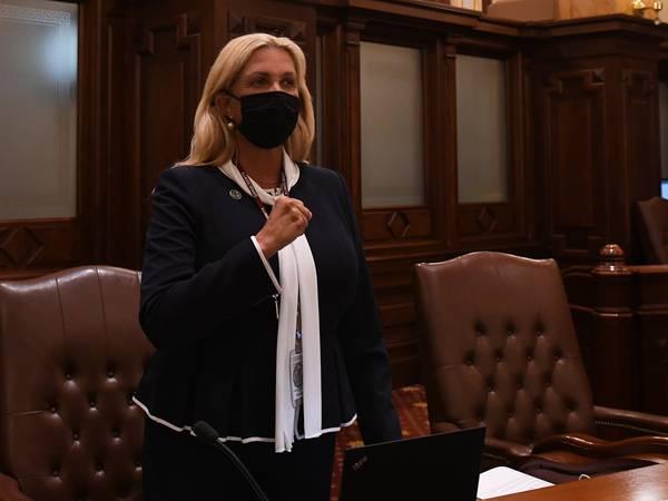 State Sen. Sue Rezin reacts to Parental Notice of Abortion Act vote