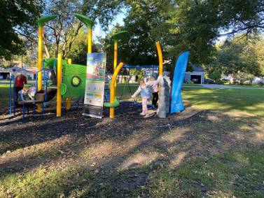 Live Well Streator cuts ribbon on new playground at Central Park