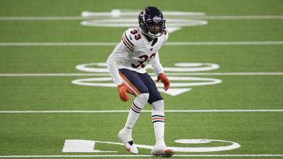 Bears CB Jaylon Johnson misses practice with shoulder injury