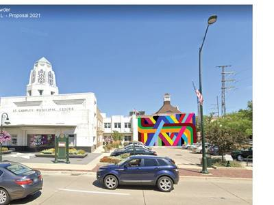 Early Christmas for art lovers: Colorful wrap to transform St. Charles Municipal Building