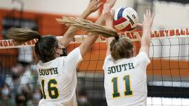 High school volleyball: Crystal Lake South rallies to beat Crystal Lake Central in 3 sets, stays undefeated