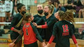 Girls Volleyball: 'Honestly amazing' Yorkville knocks off Plainfield North in SPC showdown, on cusp of winning conference title
