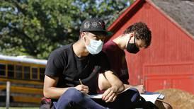 Photos: McHenry art students tour historic Colby/Petersen Farm
