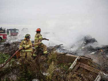 Harvard firefighters respond to controlled burn to protect barn