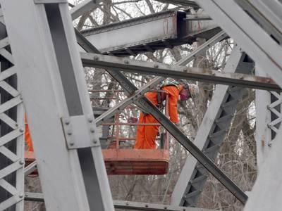 Vermilion River at Sandy Ford Bridge remains closed