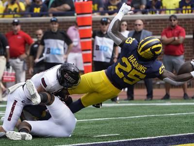 Halftime update: Michigan 35, NIU 3