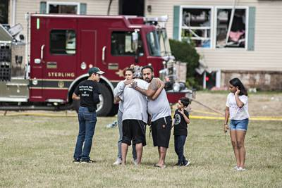 UPDATE: Fire on Sterling's West End displaces family, knocks out internet