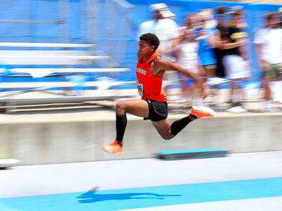 Boys Track and Field: Jayden Green soars to triple jump state title, three medals, leads Sandwich to sixth place