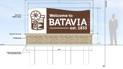 Batavia to unveil new city entryway signs