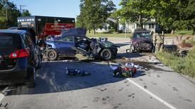 Woodstock woman dies after four-vehicle crash in Marengo