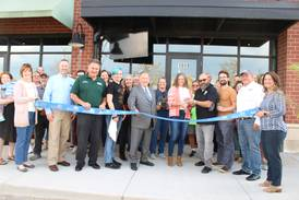 Ribbon cutting toasts Brother Chimp Brewing