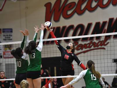Photos: Lincoln-Way Central volleyball hosts Providence
