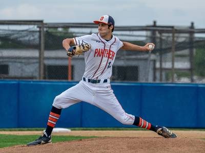 Baseball: 'He single-handedly won us conference' Oswego's Jeffrey Behrends dazzled on the mound this spring