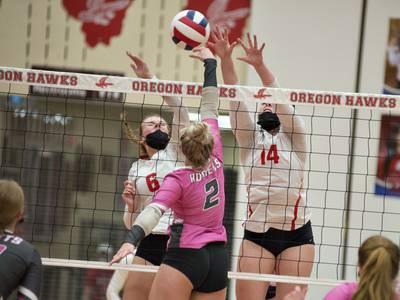 Photos: Rock Falls vs Oregon volleyball
