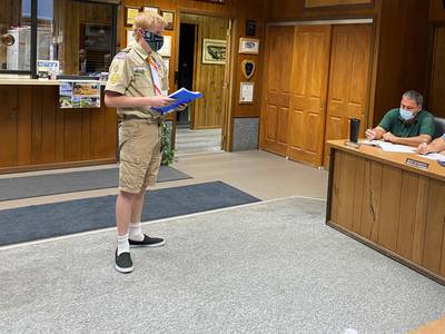 Marseilles Boy Scout to place new sign at Eagle Park