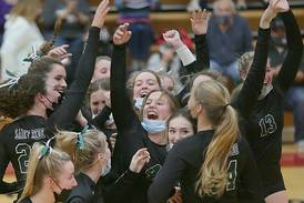 Photos: Class 1A Henry Volleyball Regional St. Bede vs Putnam County