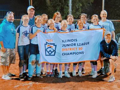 Peru Junior League softball wins District 20 title, earns state berth