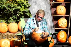 Geneva's 'Pumpkin Lady' showcases carved pumpkin creations at her home display through Halloween
