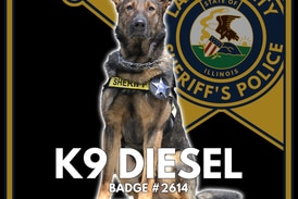 Lake County Sheriff's Office mourns the passing of Canine Diesel