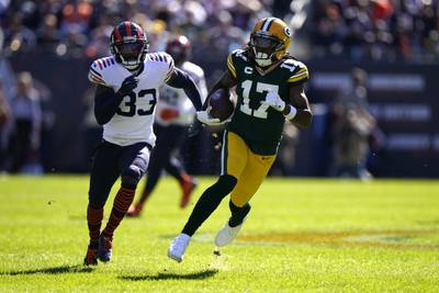 Packers receiver Davante Adams strikes at opportune times in win over Bears