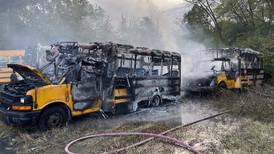 Plainfield bus fire injures 2 people