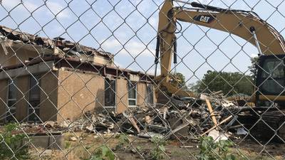 Old DeKalb Municipal Building demolition begins, paves way for new Pappas luxury apartments