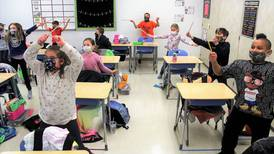 Troy students participate in cardio drumming for fun and fitness