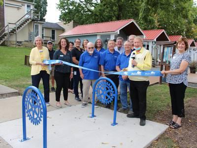 Batavia Rotary Club, Chamber dedicate new bike racks