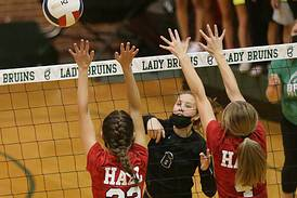 St. Bede volleyball rallies past Hall
