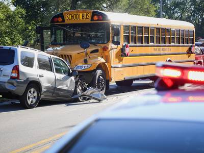 Following school bus crash, Cary man charged with driving under influence of drugs