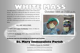 Plainfield church to hold a White Mass for health care workers on Monday