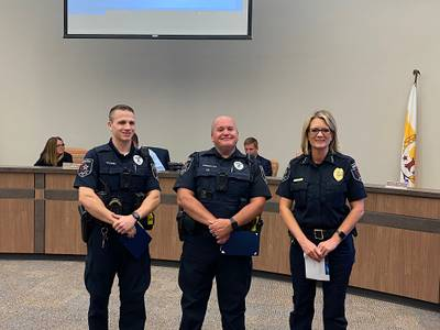 Morris police officers recognized for DUI work