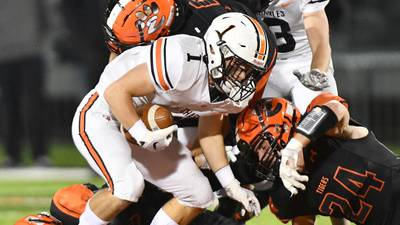 St. Charles East digs early hole at Edwardsville, can't recover