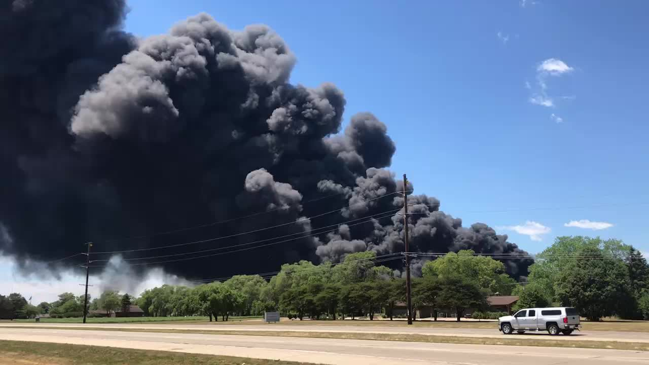 Rockton chemical fire: Ogle County residents advised to shut windows, stay indoors