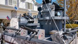 Braidwood man builds drivable navy destroyer in honor of his uncle and to help charities