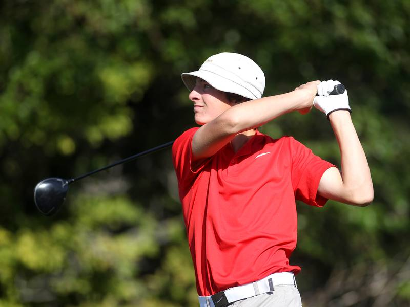 Boys Golf: Ottawa's Drake Kaufman wins Interstate 8 title with record round; Kaneland takes team title