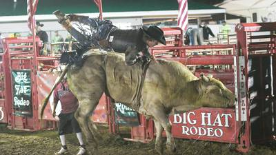 Tough night for local bull riders at the Ogle County Fair