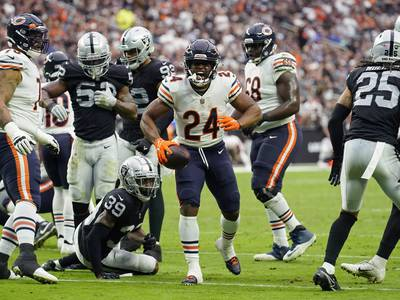 Bears rookie running back Khalil Herbert in line to start vs. Packers