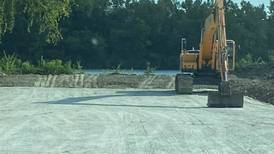 Construction on Broadway Street boat launch in Marseilles progresses