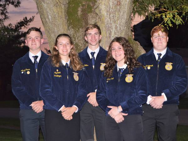 Mendota FFA placed second in district sales competition
