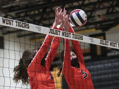 Photos: Joliet West girls volleyball hosts Lincoln-Way West