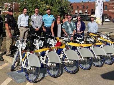 Bicycles available for rental in Utica