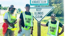 Tri County Kiwanis conduct roadside litter pick-up