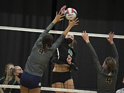 Volleyball: Rock Falls pulls away late in first set, cruises in second to beat Sterling