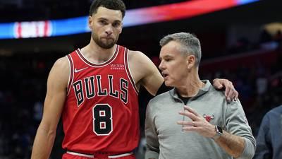 LaVine scores 34 points, Bulls beat Pistons 94-88 in opener